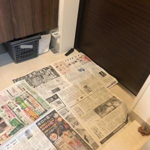 雨の日の玄関汚れ防止に! 新聞紙活用術