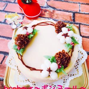 和菓子 で 祝う クリスマス 〜あん フラワー クリスマス ケーキ〜