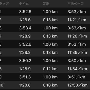 クルーズインターバル走1km×10
