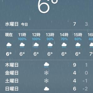去年は大雪今年は大雨