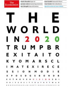 英国紙エコノミストの「The World in 2020」の予言