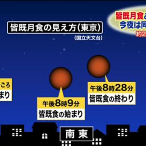 【2021年5月26日】24年ぶりのスーパームーン皆既月食!フマキラーから優待品