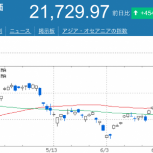 日経大幅高!7月相場の予想と日本株への投資割合について!
