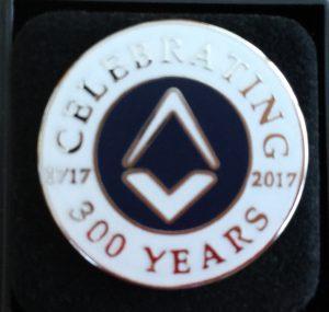 【イギリス】フリーメイソンのグランドロッジで300年記念ピンバッジを買ったよ!