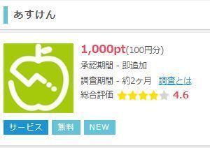 ダイエットアプリ「あすけん」のダウンロード&無料会員登録で100円もらえる ポイントインカムスマホ版