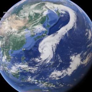 今回の台風、龍が動いているね