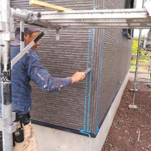 3棟連続新築現場塗装防水施工