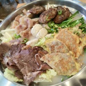 [韓国グルメ] 始めて食べてみる전 전골(チヂミの寄せ鍋)