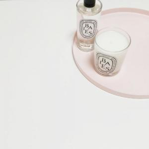 【購入品】ピンクトレイとピンクプレート