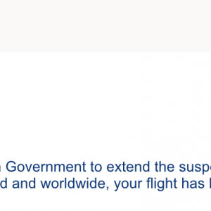 帰国の飛行機がキャンセルになりました!
