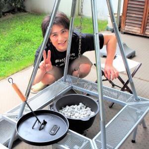 ダッチオーブンで石焼きいもを作る!の巻
