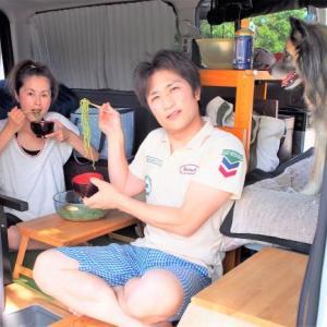 猛暑の日には茶そばでクール!(荒川彩湖公園)の巻