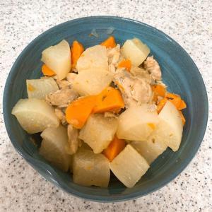 〜鶏肉と大根、にんじんの煮物〜管理栄養士のガサツ飯