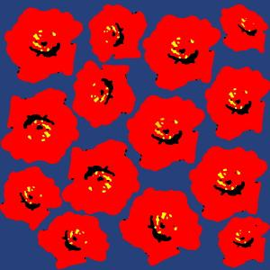 花の画像を、マリメッコ(Marimekko)風の柄に加工してみる(フリーソフトで) 第2弾