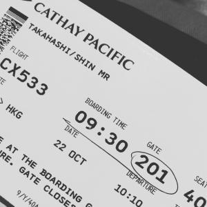 ロンドンに向かう機内から