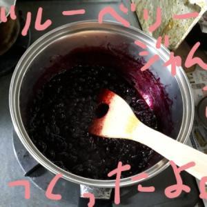 実家で採れたブルーベリー大量消費( ・∀・)ブルーベリージャム&ジャムを使ったケーキ×2、焼いてみた。