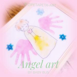 【講師作品】聖なる夜の手形アート