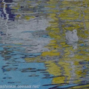 ・ ピランの港 描き始めと、 ハワイのサーフィン猫