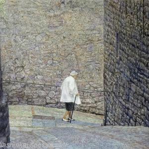 ・ トーディの坂道 途中経過と、 ミラノ・ブレラ絵画館の美しい写真を