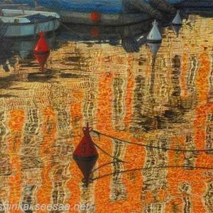 ・ 水面風景 途中経過と、 世界で一番お高い絵画の記録 n.2