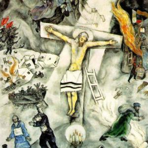 . 絵はもう1度パス、  シャガールの「白い十字架上のキリスト」の絵には