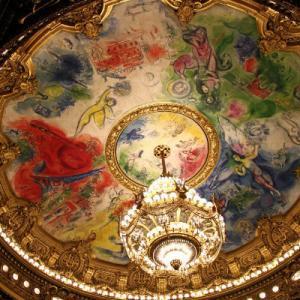 ・ 絵はパス、  パリのオペラ座ガルニエのシャガールの天井画