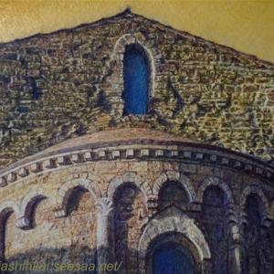 ・ 教会後陣 途中経過と、  アンドリュー・ワイエスの絵