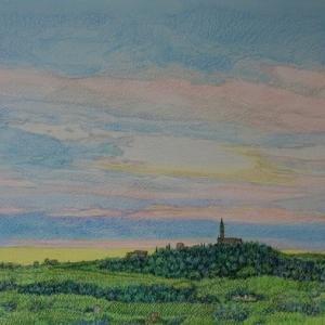 ・ 雨上がり風景描き出し と、 アンナリーザの家に絵を届けに