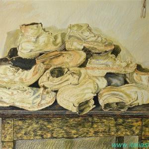 ・ 古い農民の靴 描き始めと、 ホテルに置き忘れられた、仰天の品々15点!