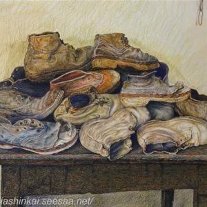 ・ 農民の靴 途中経過と、  冬3か月間、陽の射さない村 ヴィガネッラ