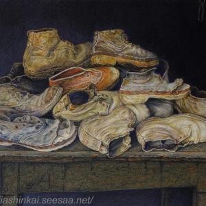 ・ 農民の古い靴、仕上げに向けて と、 薪の山の、信じられないような芸術!