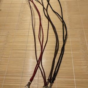 4本丸編みのネックストラップ