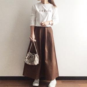 【GU】待ってでも買って良かった♡完売間近な話題の990円スカートでカジュアルMIXコーデ