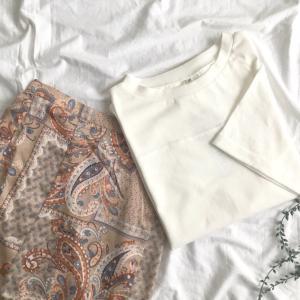【coca購入品】不安も吹き飛んだ!夏柄スカートと1000円代のプチプラTシャツの感想