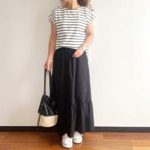 【GU】話題じゃないけどマンネリ打破にぴったりなデザインスカート