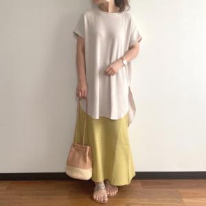 着れば着るほど好きになるチュニック×コスパ◎良しなカラースカート
