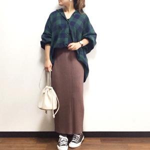 【GU】明らかに違う♡ランキング1位の人気スカートで大人カジュアルコーデ