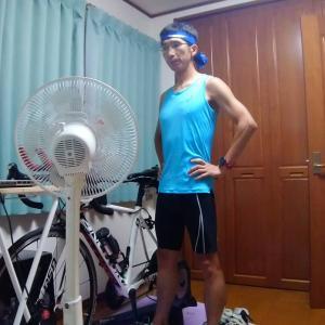雨の日トレーニング♪バイク→ラン→バイク