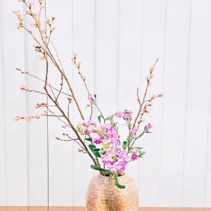 春を感じる   生け花