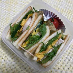 8月20日(火)鶏ハムサンドイッチ