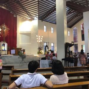 擬似娘と教会へ
