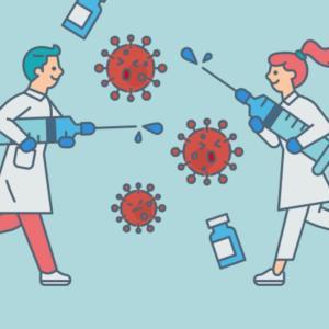 ワクチン接種1回目完了