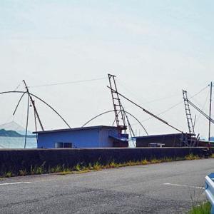 六番川の四手網小屋
