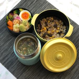 弁当作り!「焼肉チャーハンと玉ねぎスープの弁当」