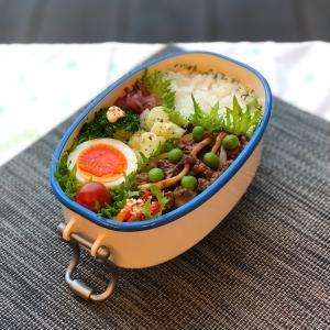 弁当作り「ハヤシ風牛肉炒め弁当」