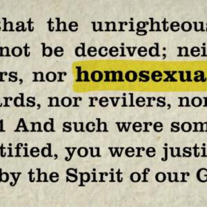 聖書が同性愛を禁じる理由