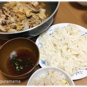 白菜と鶏肉のポン酢蒸し、ナスの天ぷら、肉じゃが