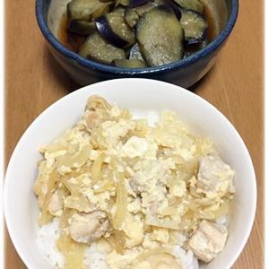 社会のテストを私がする/親子丼、ナスの生姜煮