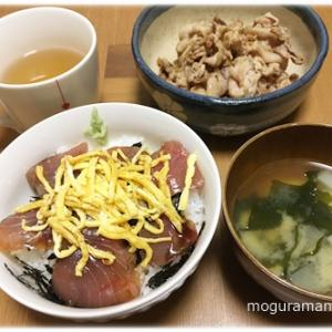 キメジの漬け丼/にんにく味噌の白菜鍋/煮込みラーメンとんこつ