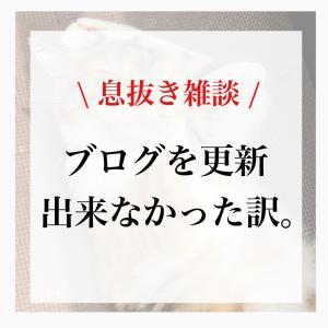 【雑談】ブログが更新できなかった訳(笑)